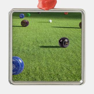 Ornement Carré Argenté Colorful_Lawn_Bowls, _