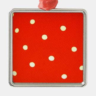 Ornement Carré Argenté Concevez les points ronds simples Polk de mode de