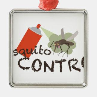 Ornement Carré Argenté Contrôle de moustique