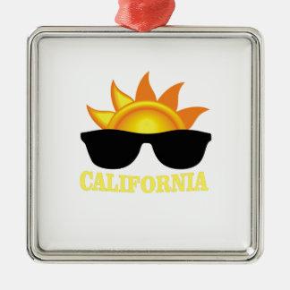 Ornement Carré Argenté Cool de Californien