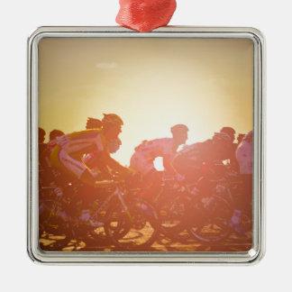 Ornement Carré Argenté Coucher du soleil de Tour de France