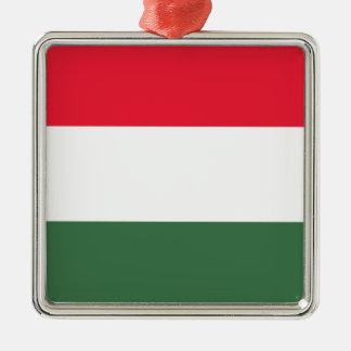 Ornement Carré Argenté Coût bas ! Drapeau de la Hongrie