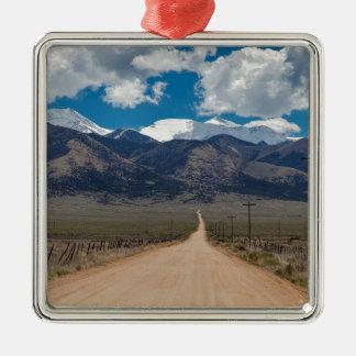 Ornement Carré Argenté Croisière de route de dos de vallée de San Luis