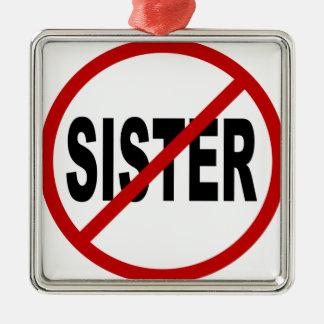Ornement Carré Argenté Déclaration de signe permise par soeur de /No de