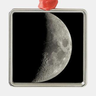 Ornement Carré Argenté Demi-lune