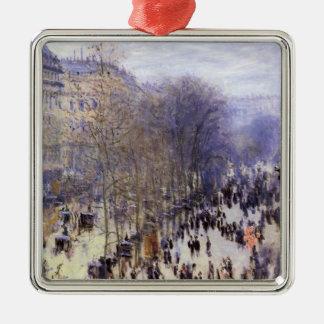 Ornement Carré Argenté DES Capucines par Claude Monet, beaux-arts de