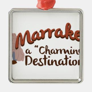 Ornement Carré Argenté Destination avec du charme de Marrakech