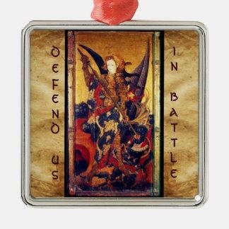 Ornement Carré Argenté Diable de victoire de St Michael en tant que