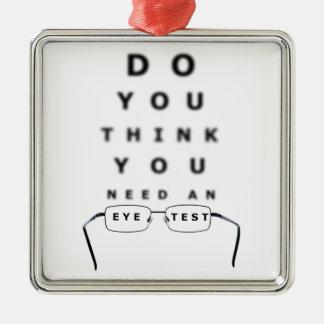 Ornement Carré Argenté Diagramme d'essai d'oeil