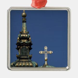 Ornement Carré Argenté Dômes orthodoxes d'église chrétienne