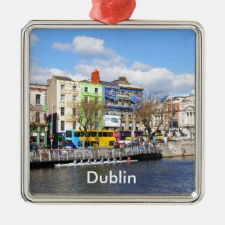 Ornement Carré Argenté Dublin. L'Irlande