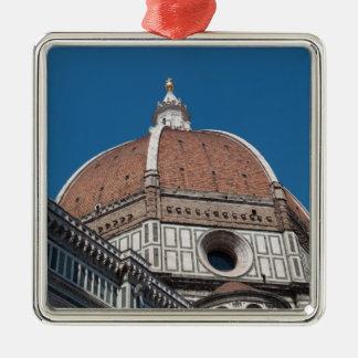Ornement Carré Argenté Duomo à Florence Italie