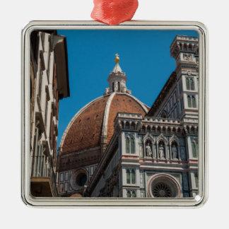 Ornement Carré Argenté Duomo de Florence ou de Firenze Italie