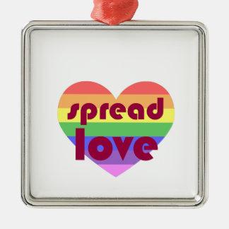 Ornement Carré Argenté Écartez l'amour gai