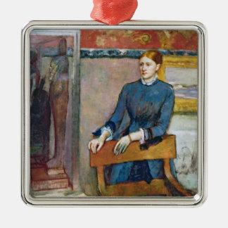 Ornement Carré Argenté Edgar Degas | Helene Rouart dans l'étude de son