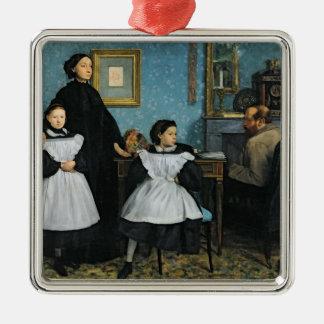 Ornement Carré Argenté Edgar Degas | la famille de Bellelli, 1858-67