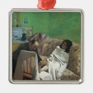 Ornement Carré Argenté Edgar Degas | la pédicurie, 1873