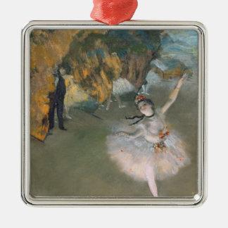 Ornement Carré Argenté Edgar Degas | l'étoile, ou danseur sur l'étape