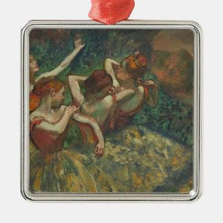 Ornement Carré Argenté Edgar Degas | quatre saisons dans l'une tête,