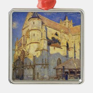 Ornement Carré Argenté Église d'Alfred Sisley | chez Moret, temps givré