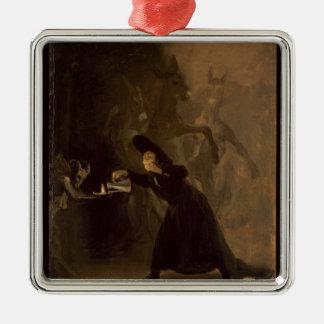 Ornement Carré Argenté EL Hechizado de Francisco Jose de Goya y Lucientes