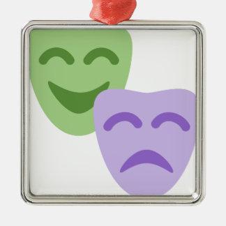 Ornement Carré Argenté Emoji Twitter - Drama Theater