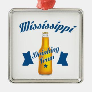 Ornement Carré Argenté Équipe potable du Mississippi