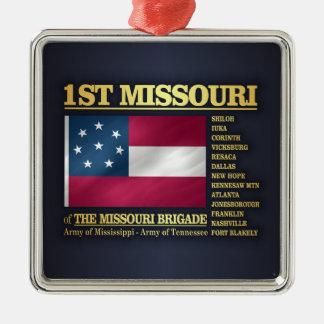 Ornement Carré Argenté ęr Infanterie du Missouri (BA2)