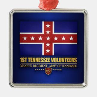Ornement Carré Argenté ęr Infanterie du Tennessee (F10)