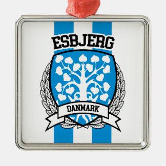 Ornement Carré Argenté Esbjerg