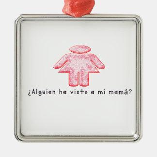 Ornement Carré Argenté Espagnol-Mamans