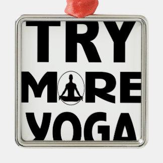 Ornement Carré Argenté Essayez plus de yoga