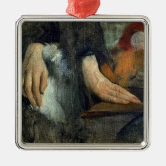 Ornement Carré Argenté Étude d'Edgar Degas | des mains, 1859-60