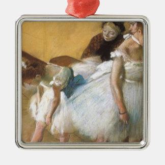 Ornement Carré Argenté Examen de danse par Edgar Degas, ballet vintage