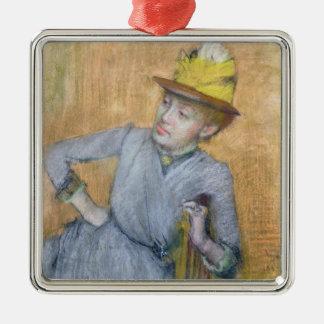 Ornement Carré Argenté Femme assise par   d'Edgar Degas, 1887