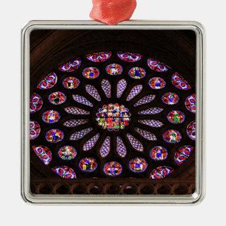Ornement Carré Argenté Fenêtre de cathédrale de Léon, EL Camino, Espagne