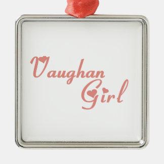 Ornement Carré Argenté Fille de Vaughan