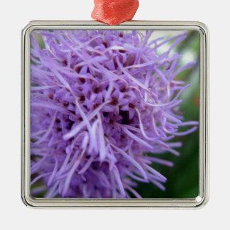 Ornement Carré Argenté Fleur de violette d'araignée de tentacule