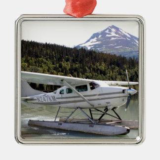 Ornement Carré Argenté Flottez plat, lac trail, Alaska 3