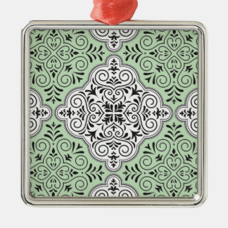 Green Rococo Pattern Flourish
