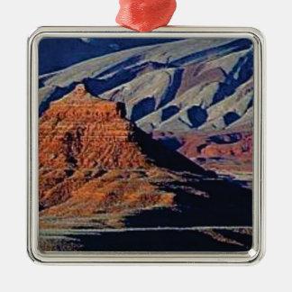 Ornement Carré Argenté formes naturelles du désert