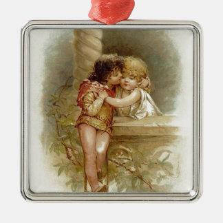 Ornement Carré Argenté Frances Brundage : Romeo et Juliet - art vintage