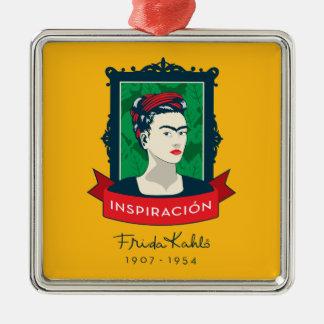 Ornement Carré Argenté Frida Kahlo | Inspiración