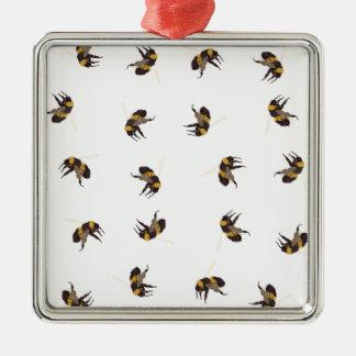 Ornement Carré Argenté Gaffez les abeilles