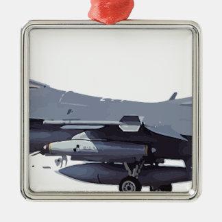 Ornement Carré Argenté General_Dynamics_F-16C_Fighting_Falcon_ (401),