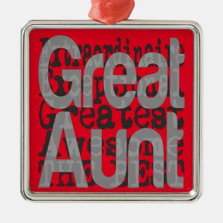 Ornement Carré Argenté Grande tante Extraordinaire