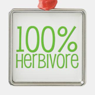 Ornement Carré Argenté Herbivore 100%