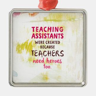 Ornement Carré Argenté héros du besoin 870.teachers