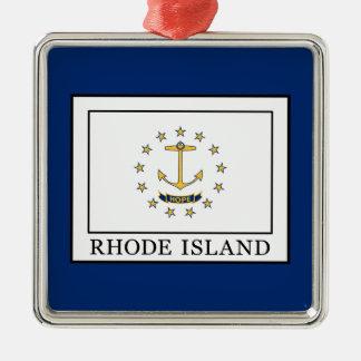 Ornement Carré Argenté Île de Rhode