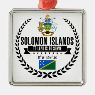 Ornement Carré Argenté Îles Salomon